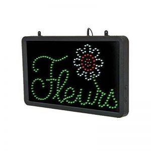PROMOTION - Enseigne lumineuse à LED Fleurs en 3 couleurs GRANDE TAILLE 56x33 cm GARANTIE 1 AN – Conception Française de la marque Interface PLV image 0 produit