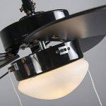 QAZQA Moderne Ventilateur de Plafond avec lumiere Fresh 30 noir Verre / Bois / Metal / Rond Compatible pour LED E14 Max. 1 x 60 Watt / Luminaire / Éclairage / intérieur / Chambre á coucher / Cuisine de la marque QAZQA image 4 produit