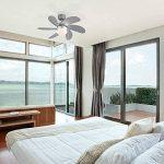 QAZQA Moderne Ventilateur de Plafond avec lumiere gris - Fresh 30 Verre/Bois / Metal/Rond Compatible pour LED E14 Max. 1 x 60 Watt/Luminaire / Éclairage/intérieur / Chambre á coucher/Cuisine de la marque QAZQA image 2 produit