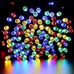 Qedertek Guirlande Lumineuse 200 LED 22M 8 Modes d'éclairage Alimenté par l'énergie Solaire et les Piles Guirlande d'extérieur Imperméable idéal pour Orner le Jardin, Patio, Terrasse, Fête (Multicolore) de la marque Qedertek image 1 produit