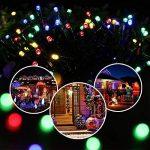Qedertek Guirlande Lumineuse 200 LED 22M 8 Modes d'éclairage Alimenté par l'énergie Solaire et les Piles Guirlande d'extérieur Imperméable idéal pour Orner le Jardin, Patio, Terrasse, Fête (Multicolore) de la marque Qedertek image 3 produit