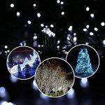 Qedertek Guirlande Lumineuse Solaire 100 LED Blanc 12 Mètres 8 Jeux de lumière Guirlande Extérieure Solaire idéal pour la Décoration de Fête, Mariage, Anniversaire et Jardin Extérieur de la marque Qedertek image 2 produit
