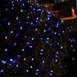 Qedertek Guirlande Lumineuse Solaire 100 LED Bleu 12 Mètres 8 Jeux de lumière Guirlande Extérieure Solaire idéal pour la Décoration de Fête Noël, Mariage, Anniversaire et Jardin de la marque Qedertek image 4 produit