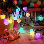 Qedertek Guirlande Lumineuse Solaire 6M 30 LED Boules Cristale Multicolore Lumière Solaire Extérieure pour Noël, Jardin d'été, Patio, Mariage de la marque Qedertek image 1 produit