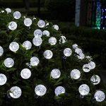 Qedertek Guirlande Solaire 6M 30 Boules Led Blanc Guirlande Lumineuse Extérieure Ornement Lumière avec 8 Modes d'éclairage pour décorer le Jardin, Patio, Mariage de la marque Qedertek image 4 produit