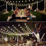 Qedertek Guirlande Solaire 6M 30 Boules Led Blanc Guirlande Lumineuse Extérieure Ornement Lumière avec 8 Modes d'éclairage pour décorer le Jardin, Patio, Mariage de la marque Qedertek image 1 produit