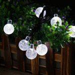 Qedertek Guirlande Solaire 6M 30 Boules Led Blanc Guirlande Lumineuse Extérieure Ornement Lumière avec 8 Modes d'éclairage pour décorer le Jardin, Patio, Mariage de la marque Qedertek image 3 produit