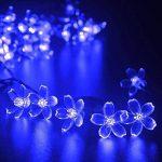 Qedertek Guirlande Solaire 7m 50 Fleur LED Bleu Guirlande Lumineuse Extérieure avec 8 Modes d'éclairage Ornement de Jardin, Terrasse, Balcon de la marque Qedertek image 1 produit