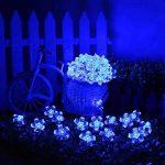 Qedertek Guirlande Solaire 7m 50 Fleur LED Bleu Guirlande Lumineuse Extérieure avec 8 Modes d'éclairage Ornement de Jardin, Terrasse, Balcon de la marque Qedertek image 3 produit