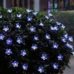 Qedertek Guirlande Solaire 7m 50 Fleur LED Bleu Guirlande Lumineuse Extérieure avec 8 Modes d'éclairage Ornement de Jardin, Terrasse, Balcon de la marque Qedertek image 4 produit