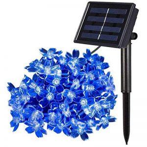 Qedertek Guirlande Solaire 7m 50 Fleur LED Bleu Guirlande Lumineuse Extérieure avec 8 Modes d'éclairage Ornement de Jardin, Terrasse, Balcon de la marque Qedertek image 0 produit