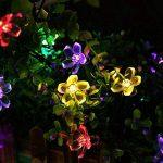 Qedertek Guirlande Solaire 7m 50 Fleur LED Multicolore Guirlande Lumineuse Extérieure avec 8 Modes d'éclairage Ornement de Jardin, Terrasse, Balcon de la marque Qedertek image 3 produit