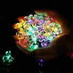 Qedertek Guirlande Solaire 7m 50 Fleur LED Multicolore Guirlande Lumineuse Extérieure avec 8 Modes d'éclairage Ornement de Jardin, Terrasse, Balcon de la marque Qedertek image 4 produit