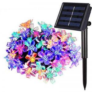 Qedertek Guirlande Solaire 7m 50 Fleur LED Multicolore Guirlande Lumineuse Extérieure avec 8 Modes d'éclairage Ornement de Jardin, Terrasse, Balcon de la marque Qedertek image 0 produit
