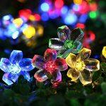 Qedertek Guirlande Solaire 7m 50 Fleur LED Multicolore Guirlande Lumineuse Extérieure avec 8 Modes d'éclairage Ornement de Jardin, Terrasse, Balcon de la marque Qedertek image 1 produit