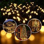 Qedertek Guirlande Solaire Extérieure 200 LED Blanc Chaud 22 Mètres 8 Jeux de lumière Guirlande Lumineuse pour la Décoration de Jardin, Patio, Clôture, Balcon de la marque Qedertek image 1 produit