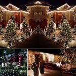 Qedertek Guirlande Solaire Extérieure 200 LED Blanc Chaud 22 Mètres 8 Jeux de lumière Guirlande Lumineuse pour la Décoration de Jardin, Patio, Clôture, Balcon de la marque Qedertek image 4 produit