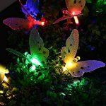 Qedertek Guirlandes Solaire Extérieur en Forme de Papillon Multicolore 3.8M 12 LED Lampe Décorative pour Jardin d'été, Mariage, Patio, Terrasse de la marque Qedertek image 4 produit