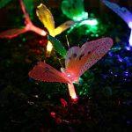 Qedertek Guirlandes Solaire Extérieur en Forme de Papillon Multicolore 3.8M 12 LED Lampe Décorative pour Jardin d'été, Mariage, Patio, Terrasse de la marque Qedertek image 2 produit