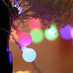 Qedertek Lumière Décoration de Noël, Guirlande Lumineuse Boule avec Adapteur 13M 100 LED Guirlande Intérieur Multicolore pour Mariage Pâques Anniversaire de la marque Qedertek image 4 produit