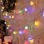 Qedertek Lumière Décoration de Noël, Guirlande Lumineuse Boule avec Adapteur 13M 100 LED Guirlande Intérieur Multicolore pour Mariage Pâques Anniversaire de la marque Qedertek image 3 produit
