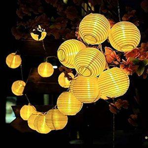 RainBabe Guirlandes Lumineuses d'extérieur de Noël Boules Cordon Lumineux Solaire en PVC Décoration pour Maison Jardin Soirée Mariage Fête Noël de la marque RainBabe image 0 produit