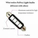 Ralbay 6 X 41mm/42mm 4 SMD LED Ampoule Feston de Voiture Lampe de Lecture/Coffre C5W Lampe de Plaque d'Immatriculation 5050 Canbus Décodage Haute Luminosité(Rouge) de la marque Ralbay image 2 produit
