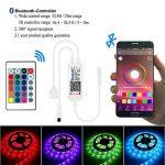 Récepteur Bluetooth, ALED LIGHT Contrôleur Bluetooth + Télécommande IR 24 Touches, pour Ruban LED Bande RGB Contrôlé par APP Smartphone IOS/Android ou Contrôlée par Télécommande IR de la marque ALED LIGHT image 1 produit