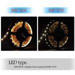 Réduction pour Prime Day: Auralum® Ruban à LED Strip Flexible Bande 5M 72W SMD 5630*300 Leds IP20 Blanc Chaud Ruban à LED + Télécommande + Alimentation de la marque AuraLum image 4 produit
