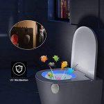 Rechargeable UV Stérilisateur LED Lampe Toilette - Détecteur de Mouvement WC Veilleuse 16 Changements de Couleur Pour WC/Cuvette Siège/Salle de Bain de la marque SUPTEMPO image 2 produit