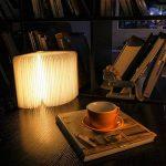 RegeMoudal LED Livre Lampes D'ambiance Lampe de Lecture Pliante Rechargeable par USB Lumière Magnétique avec Batterie Lithium 2500 mAh en Bois en Papier DuPont Imperméable Lampe de Bureau Lumières Décoratives Veilleuse Lampe de Chevet (Noyer) de la marque image 4 produit