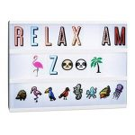 Relaxdays Set Suppléments Boîte à lumière LED 240 Signes Originaux, Extension Lettres Chiffres Icônes, Multicolore de la marque Relaxdays image 2 produit