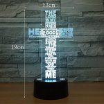 RFJJ 3D Night Light Illumination visuelle 7 Changement de couleur USB Touches tactiles et Smart Remote Lampe de bureau Nice cadeau Home Decor (Cross) -vacances cadeaux de la marque RFJJ image 2 produit