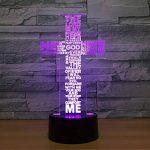 RFJJ 3D Night Light Illumination visuelle 7 Changement de couleur USB Touches tactiles et Smart Remote Lampe de bureau Nice cadeau Home Decor (Cross) -vacances cadeaux de la marque RFJJ image 3 produit