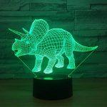 RFJJ Veilleuse 3D Illumination visuelle 7 Changement de couleur Clavier USB tactile & Smart Remote Lampe de bureau Nice cadeau Home Decor (dinosaure) -vacances cadeaux de la marque RFJJ image 3 produit