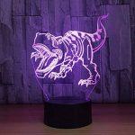 RFJJ Veilleuse 3D Illumination visuelle 7 Changement de couleur Clavier USB tactile & Smart Remote Lampe de bureau Nice cadeau Home Decor (dinosaure) -vacances cadeaux de la marque RFJJ image 1 produit