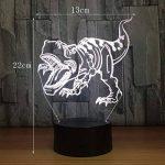 RFJJ Veilleuse 3D Illumination visuelle 7 Changement de couleur Clavier USB tactile & Smart Remote Lampe de bureau Nice cadeau Home Decor (dinosaure) -vacances cadeaux de la marque RFJJ image 2 produit