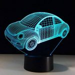RFJJ Veilleuse 3D Illumination visuelle 7 Changement de Couleur Clavier USB Touch & Smart Remote Lampe de Bureau Nice Cadeau Décor À La Maison (Voiture) -vacances cadeaux de la marque RFJJ image 4 produit