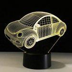 RFJJ Veilleuse 3D Illumination visuelle 7 Changement de Couleur Clavier USB Touch & Smart Remote Lampe de Bureau Nice Cadeau Décor À La Maison (Voiture) -vacances cadeaux de la marque RFJJ image 2 produit