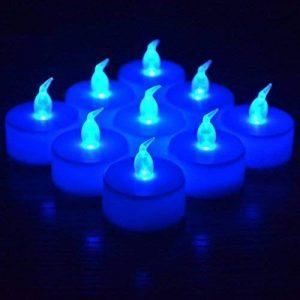 RICISUNG 12x LED vacillante Bougies sans flamme Thé lumières pour décoration festivals Mariage avec piles avec batteries gratuit de la marque RICISUNG image 0 produit