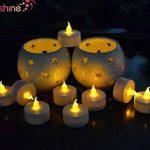 RICISUNG 12x LED vacillante Bougies sans flamme Thé lumières pour décoration festivals Mariage avec piles avec batteries gratuit de la marque RICISUNG image 1 produit