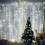 Rocita 300LED 3M*3M 8 Modes LED Guirlandes Lumineuses Rideau Fenêtre Chaîne de Lampes pour Décoration Noël Fête Mariage Anniversaire Maison Jardin - Blanc de la marque yongding image 1 produit