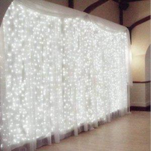 Rocita 300LED 3M*3M 8 Modes LED Guirlandes Lumineuses Rideau Fenêtre Chaîne de Lampes pour Décoration Noël Fête Mariage Anniversaire Maison Jardin - Blanc de la marque yongding image 0 produit