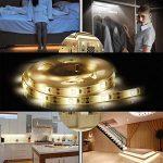 Rokoo Lampe flexible de sonde de mouvement de bande de lumière de nuit de LED de mode double pour le cabinet de Cabinet de chambre à coucher de la marque Rokoo image 4 produit