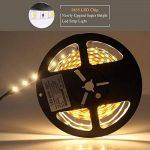 Roleadro Ruban Lumineux LED Strip 5M Avec 12V Alimentation Consommation Réduite Bande LED avec Ultra-brillant 2835SMD 300 Leds Flexible Autocollant pour Décoration Intérieure Blanc Chaud 3000K IP20 de la marque Roleadro image 1 produit