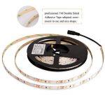 Roleadro Ruban Lumineux LED Strip 5M Avec 12V Alimentation Consommation Réduite Bande LED avec Ultra-brillant 2835SMD 300 Leds Flexible Autocollant pour Décoration Intérieure Blanc Chaud 3000K IP20 de la marque Roleadro image 4 produit