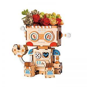 Rolife Pot de Fleur Dessin Animé Pot de Fleurs en Pot de Jardin Trou Stylo Titulaire Meilleurs Cadeaux Enfant-Pot Robot de la marque Rolife image 0 produit