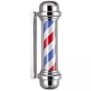 rotulowcost pbsin1Poteau de barbier avec éclairage et tour, rouge, bleu et blanc, 23x 68cm de la marque Rotulowcost image 0 produit
