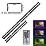 Rétro-éclairage LED, LED Strip Light avec 16 couleurs RGB SMD5050 alimenté par USB Flexible Rétroéclairage étanche pour TV Computer Background Lighting (2 x 50cm, 2 x 1m bandes led) de la marque ASUN image 3 produit