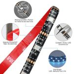 Rétro-éclairage LED, LED Strip Light avec 16 couleurs RGB SMD5050 alimenté par USB Flexible Rétroéclairage étanche pour TV Computer Background Lighting (2 x 50cm, 2 x 1m bandes led) de la marque ASUN image 4 produit